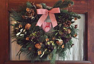 Rustic Pine Tree Limb Wreath