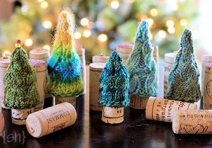 Mini Cabled Pine Trees