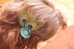 Peacock Hair Clip
