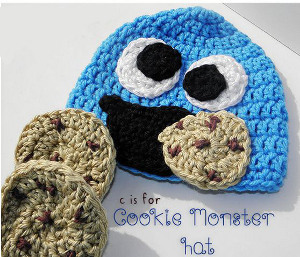 C is for Cookie Monster Hat