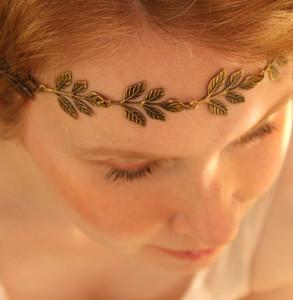 Grecian Goddess Gold Leaf Headband