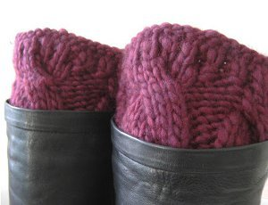 Mulled Wine Boot Cuffs