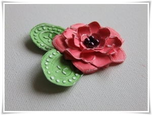 Easily Embossed Paper Flowers