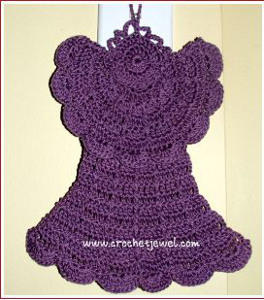 Crochet Angel Dishcloth