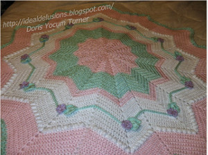 Frosted Round Ripple Free Crochet Pattern