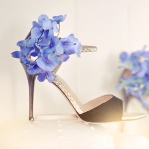 Something Blue Flower Sandals