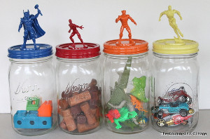 Superhero Storage Jars