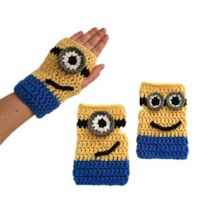 Fingerless Minion Mitts