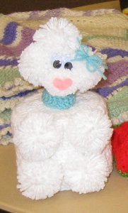 Vintage Poodle Tissue Box Cover