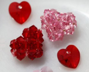 Cute Crystal Beaded Heart Tutorial