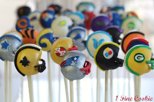 Spirited Football Helmet Cake Pops