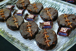 Snickers Football Brownies