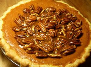 Bourbon Pumpkin Pecan Pie | FaveSouthernRecipes.com
