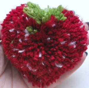 Sweet Strawberry DIY Pom Pom