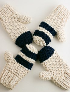 Thick Garter Stitch Mitts