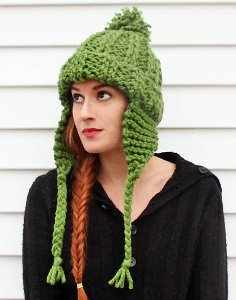Thick 'n Quick Earflap Hat