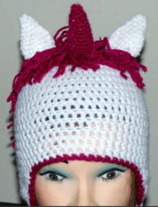 Crochet Unicorn Hat Pattern Free : Unicorn Crochet Hat for Kids
