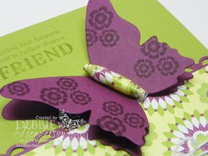 Butterfly and Bead Greeting Card