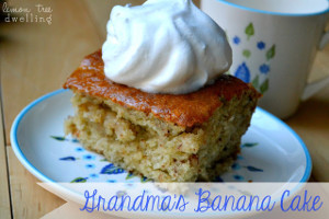 Just-Like-Grandma's Banana Cake