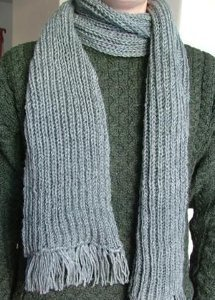 Easy Fisherman's Rib Scarf