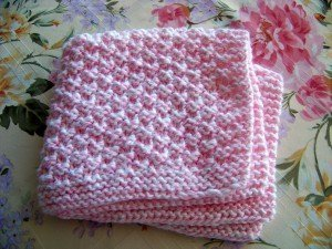 Box Stitch Baby Blanket