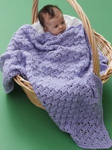 One Skein Lilac Blanket AllFreeCrochet.com