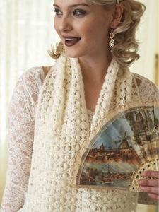 Vintage Lace Popcorn Shawl