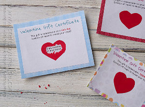 Scratch Off Valentine Cards