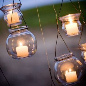 Evening Glow Hanging Votives