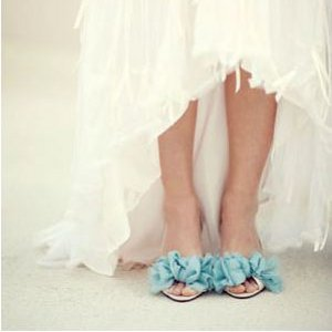 Something Blue DIY Shoes