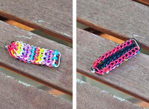 Double-Sided Rainbow Loom Bracelet | AllFreeKidsCrafts.com