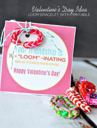 Easy Rainbow Loom Printable Valentines