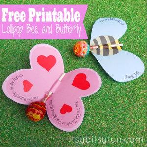 Printable Lollipop Valentines