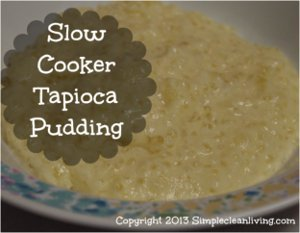 Slow Cooker Tapioca Pudding