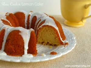 Slow Cooker Lemon Love Cake