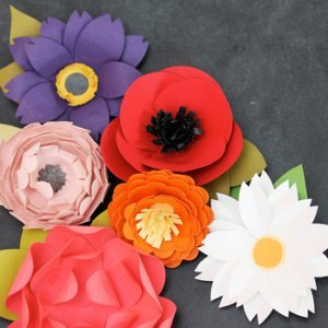 Paper Punch Flower Garden