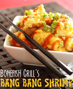 Jul 14,  · Bonefish Grill bang bang shrimp has a distinct crunch, and this was a little harder to recreate. I tried breading with all-purpose flour, straight cornstarch, flour/cornstarch combined, then cornstarch with a little panko breadcrumbs/5(15).