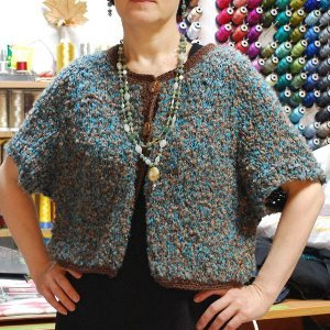 One Skein Cropped Cardigan