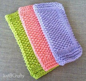 Knitted Wash Clothes Free Patterns : Seed Stitch Dishcloth Pattern AllFreeKnitting.com
