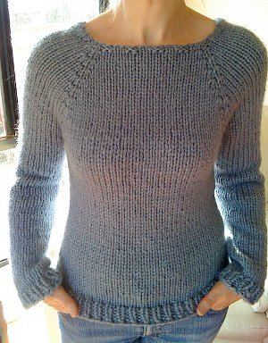 Seamless Spring Sweater AllFreeKnitting.com