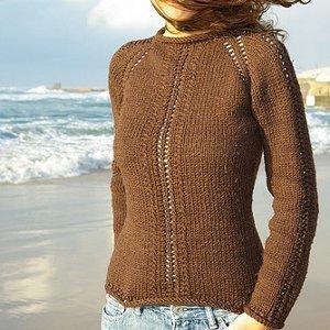 Греховно Простой кружева свитер