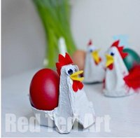 Cheeky Chickens Egg Carton Crafts