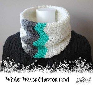 Chevron Crochet Cowl