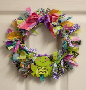 Super Scrappy Fabric Wreath