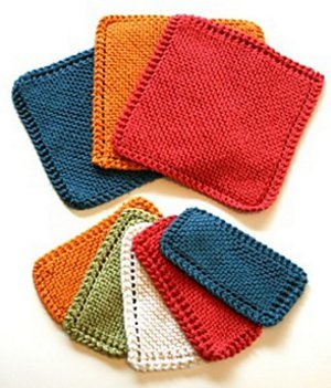 Traditional Garter Stitch Dishcloth
