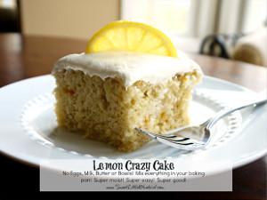 Grandma's Prized Lemon Crazy Cake