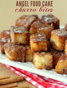 Angel Food Cake Churro Bites