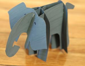 Cute Cardboard Elephant