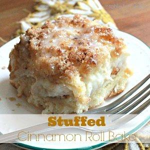 Stuffed Cinnamon Roll Bake