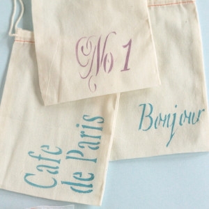 French Wedding Favor Bags